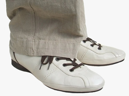 ADAM stone leather dance shoes with linen trousers